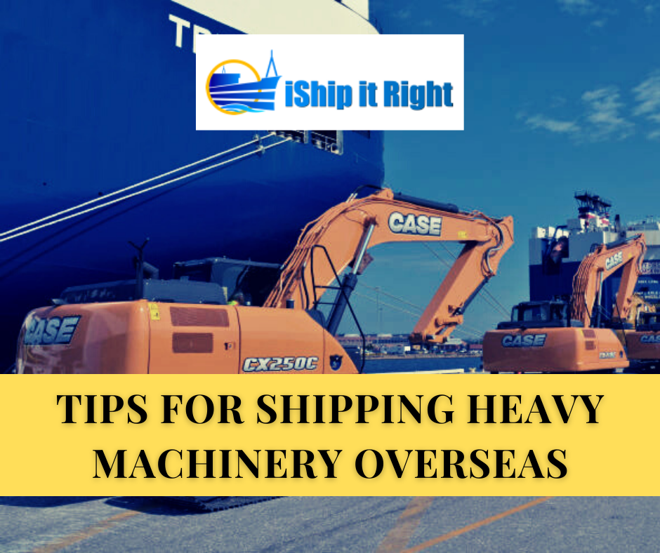 Shipping heavy machinery overseas